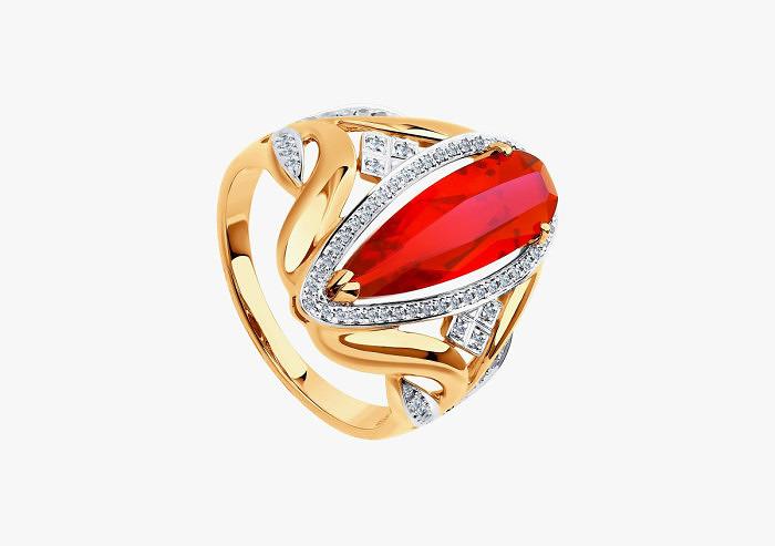 Кольцо из золота SOKOLOV из коллекции To be queen 6018007 (Custom)