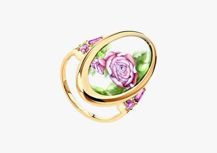Кольцо из золота SOKOLOV из коллекции Romance 781004 (Custom)