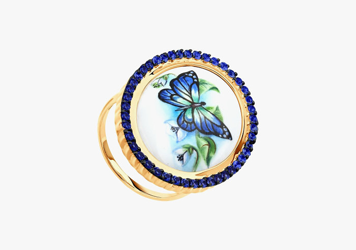 Кольцо из золота SOKOLOV из коллекции Romance 781005 (Custom)