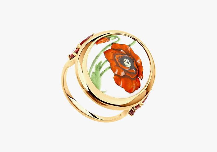 Кольцо из золота SOKOLOV из коллекции Romance (Custom)