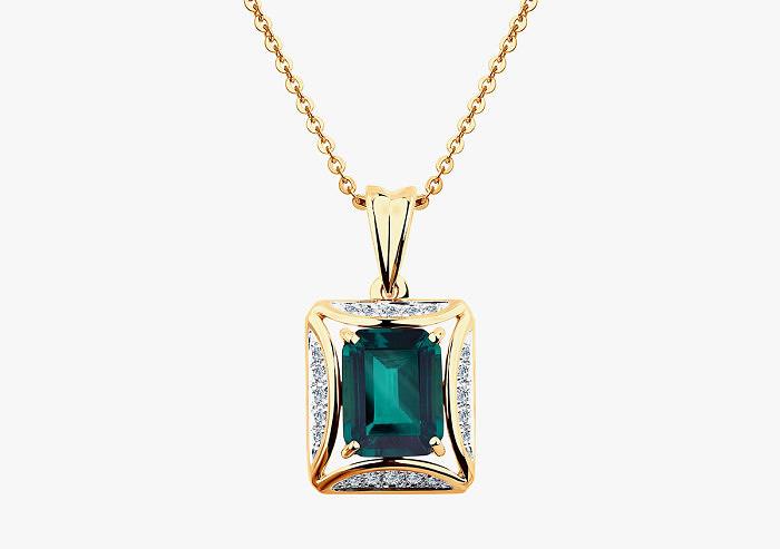 Колье из золота SOKOLOV из коллекции To be queen 6037001