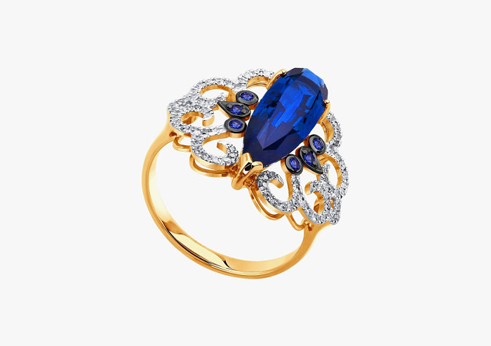 Кольцо из золота SOKOLOV из коллекции To be queen 6012059 (Custom)