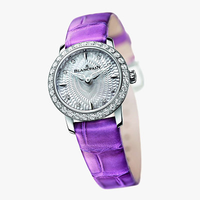 Часы Ladybird с фиолетовым ремешком от Blancpain
