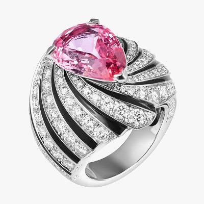 Кольцо Solar с сапфиром падпараджа и бриллиантами от Cartier
