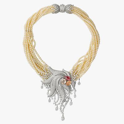 Колье Cartier с жемчугом, бриллиантами и сапфирами