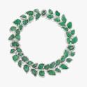 Колье с зелеными бериллами и бриллиантами