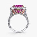 Кольцо с розовым сапфиром от Omi Prive