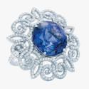 Кольцо от Tiffany & Co. с бриллиантами и танзанитом