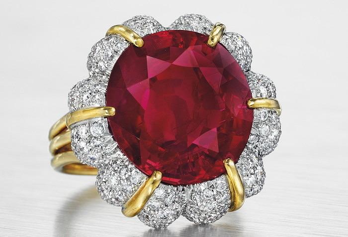Кольцо Verdura с рубином весом 15,99 карата