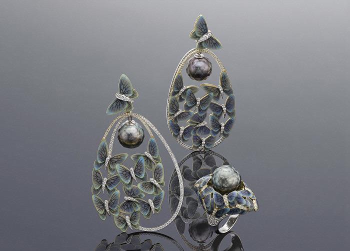 Кольцо и серьги «Бабочки» Ильгиза Фазулзянова