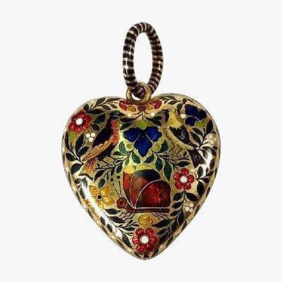 Кулон-сердце James Robinson, Париж, 1815 год
