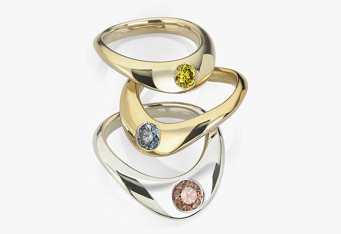 Кольца Promise of Created Elegance из белого, желтого и розового золота