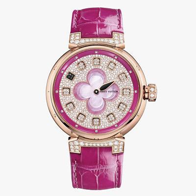 Tambour Spin Time с розовым ремешком