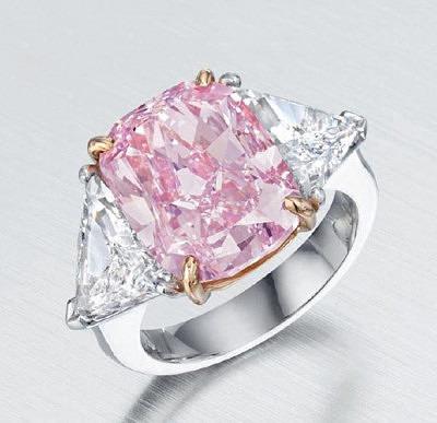 Кольцо с 10-каратным розовым бриллиантом