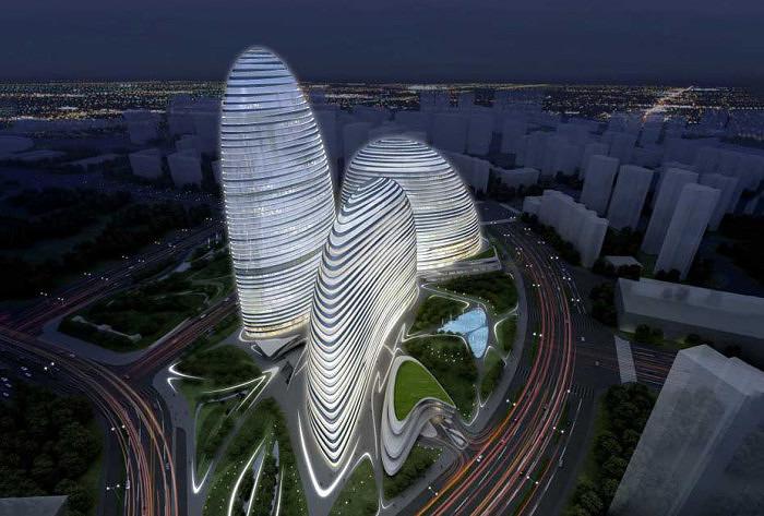 Комплекс Wangjing Soho в Пекине