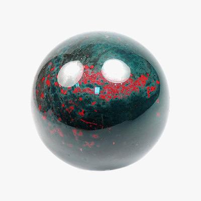 Гелиотроп (непрозрачный халцедон тёмно-зелёного цвета с ярко-красными пятнами или полосами)