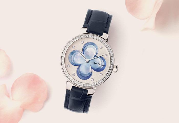 Часы Blossom из стали от Louis Vuitton