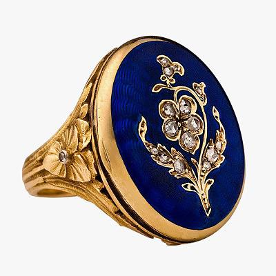 Французское кольцо, принадлежавшее династии Романовых, 1890 год