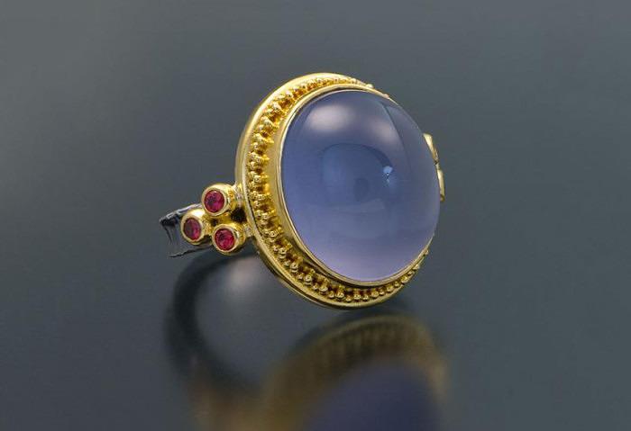 Кольцо с халцедоном от Zaffiro Jewelry