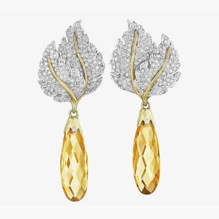 Серьги Buccellati с цитринами и бриллиантами