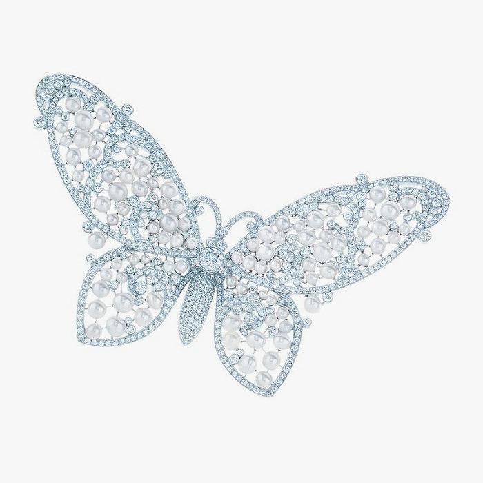 Платиновая брошь-бабочка Tiffany & Co.