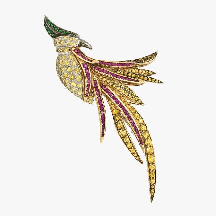Брошь-птица от Jye