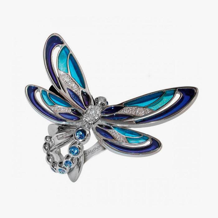 Кольцо со стрекозой от Mathon Paris.
