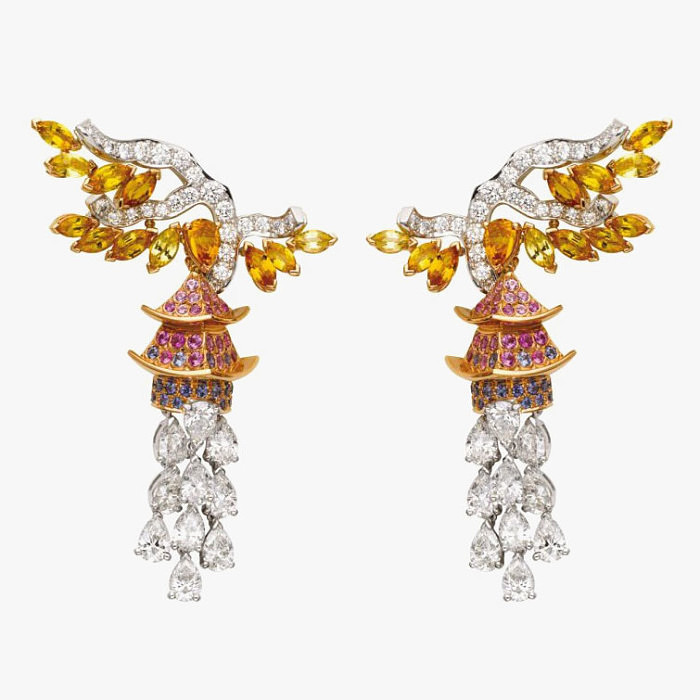 Серьги с сапфирами и бриллиантами от Van Cleef & Arpels