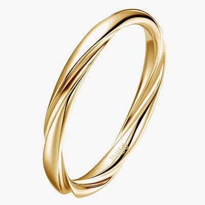 Перекрученное обручальное золотое кольцо Fei Liu