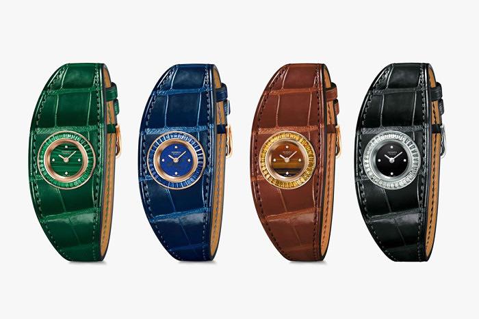 Четыре новых модели часов Faubourg Manchette Joaillerie от Hermès