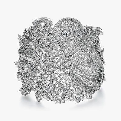 Широкий бриллиантовый браслет Tiffany