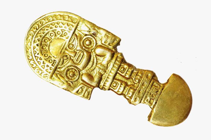Золотой ритуальный нож, принадлежавший племени инков