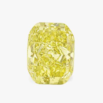 Кольцо из 18-каратного золота с роскошным прямоугольным желтым бриллиантом весом 54,62 карата. Продано за 2,4 миллиона долларов