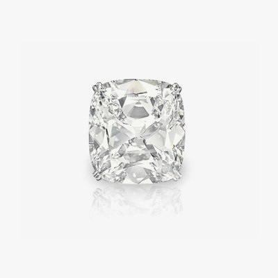 Платиновое кольцо с бриллиантом огранки «кушон» весом 41,18 карата. Продано за 1,4 миллиона долларов