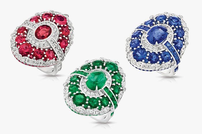 Кольца Aura с рубинами, сапфирами и изумрудами из коллекции Devotion