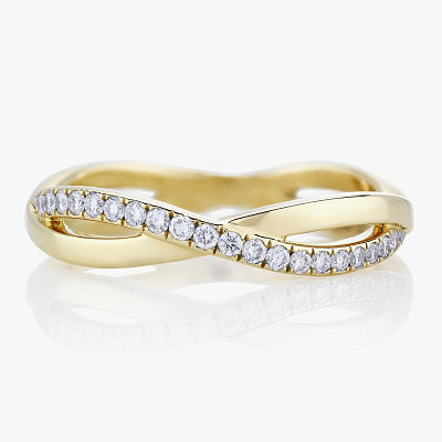 Кольцо Infinity с бриллиантовой дорожкой от De Beers
