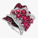 Кольцо Larry Jewelry с рубинами и бриллиантами