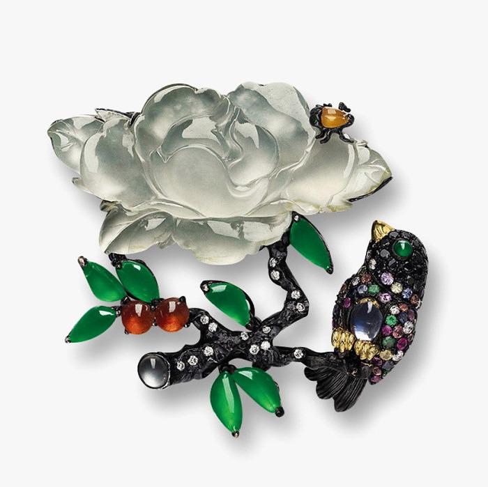 Брошь «Птица и Цветок» от Mason Tsai