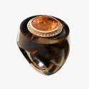 Кольцо из дымчатого кварца от Sanalitro