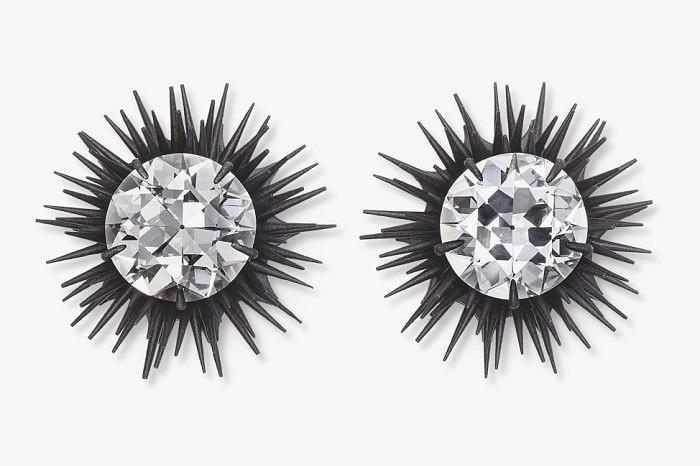 Серьги Hemmerle из черного железа с бриллиантами