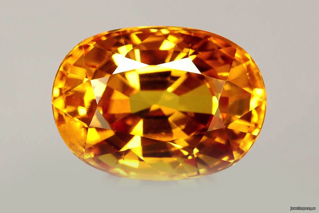 Драгоценный камень желтого цвета