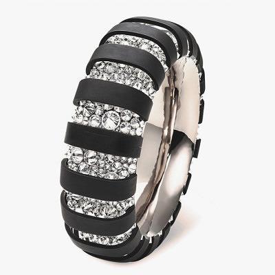 Браслет Hemmerle из черного железа с бриллиантовым паве
