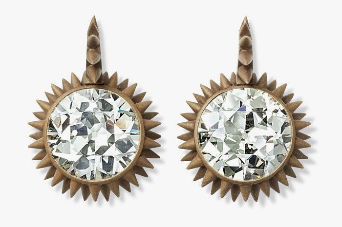 Серьги Hemmerle из бронзы с бриллиантами