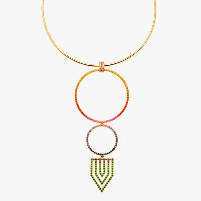 Колье Robinson Pelham с бриллиантами и разноцветными драгоценными камнями
