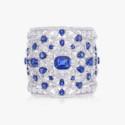 Широкий браслет Graff с бриллиантами и сапфирами