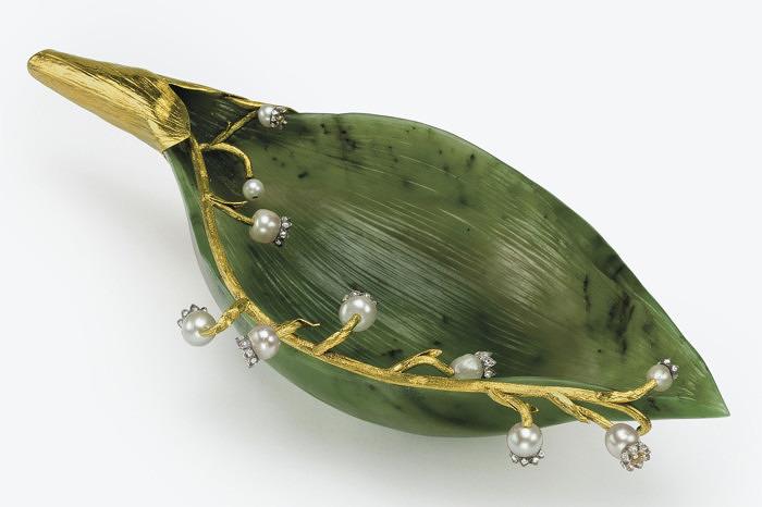 Нефритовый лепесток ландыша Faberge