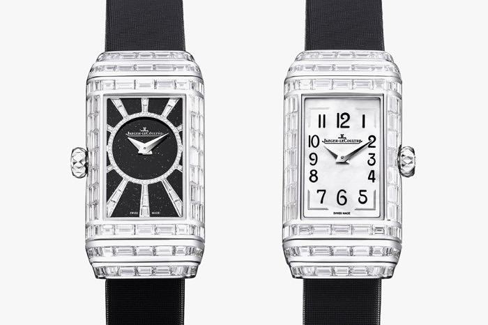 Часы Reverso One High Jewelry от Jaeger-LeCoultre, с обратной и с лицевой стороны