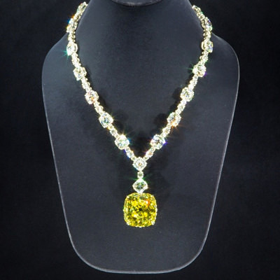 Колье с желтым бриллиантом Tiffany & Co. Кадр из фильма