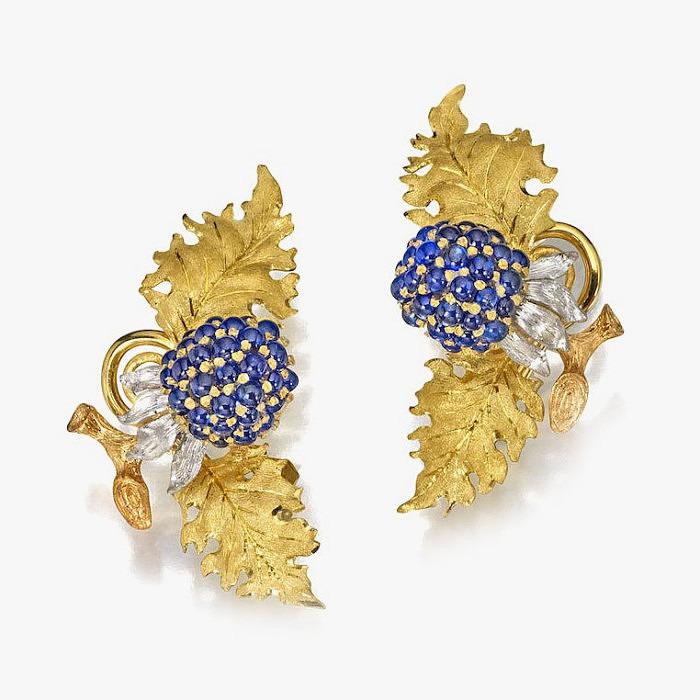 Золотые серьги от Buccellati