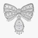 Корсажная брошь от Cartier с бриллиантами и горным хрусталем
